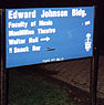 Edward Johnson Building sign